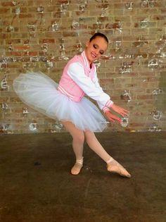 Pink girls crop baseball jacket with ballet tutu