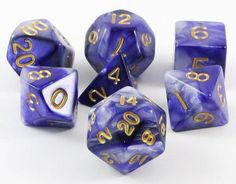 Combo Attack Dice (Blue/White) RPG Role Playing Game Dice Set