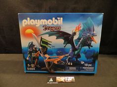 Playmobil Dragons #5484 play set 18 pieces sticker residue front of package…