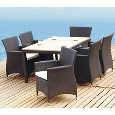 Tosh Furniture Brown Dining Set - Rectangle