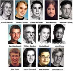 The Columbine High School massacre was a school shooting which occurred on April 20, 1999. Two senior students, Eric Harris and Dylan Klebold, murdered a total of 12 students and one teacher. They injured 21 additional students, with three other people being injured while attempting to escape the school. The pair then committed suicide. http://en.wikipedia.org/wiki/Columbine_High_School_massacre