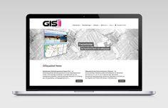 responsive Webdesign für GISquadrat GmbH
