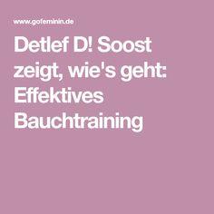 Detlef D! Soost zeigt, wie's geht: Effektives Bauchtraining