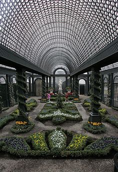 Duke Gardens At Farms New Jersey The Walls And Vaulted Ceiling Of