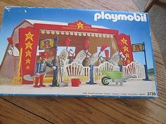 VINTAGE Playmobil Romani Circus Horse Show Tent 3730 1991