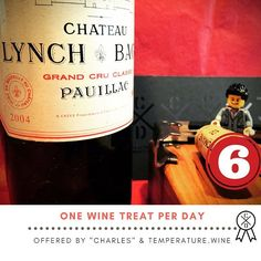 The #adventcalendar for #serious #winelovers  The #wine treat of day 6 before #christmas : #pauillac is a famous city and wine near #Bordeaux. #Chateau #lynchbages Fifth Grow A great expression with 3/4 #cabernetsauvignon in this #grandcru