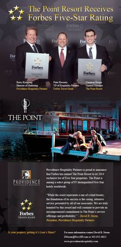 Providence Hospitality Partners LLC: The Point Resort Receives Forbes Five - Star Ratin...