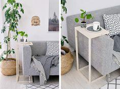 DIY: Mesita auxiliar para sofá   Decoración