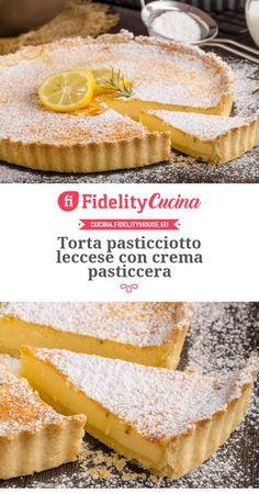 Torta pasticciotto leccese con crema pasticcera