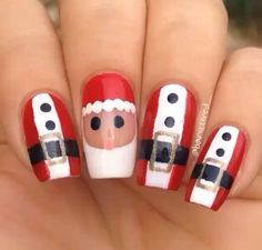 Want a cute idea for Christmas nails? Try this out its so easy you'd love them