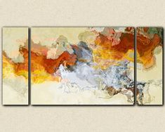Abstract expressionism canvas print 30x60 to por FinnellFineArt