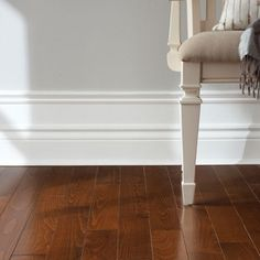 Stacked baseboard...saw this in a home and thought it was a very cool idea.