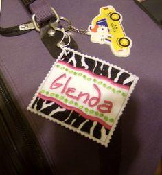 Personalized Custom Luggage Bag ID Tag by KoozieFloozie on Etsy, $12.95