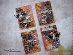 ''Enjoy - Celebrate'' (Life) - ATC Cards for 2Crafty Chipboard with a Video Tutorial