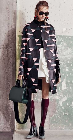 Marni 2016.... NO CLUE WHY, but for some reason I am captivated by this jacket. The colors, detailed design, where the length/hem falls on the jacket. Everything is just perfection!
