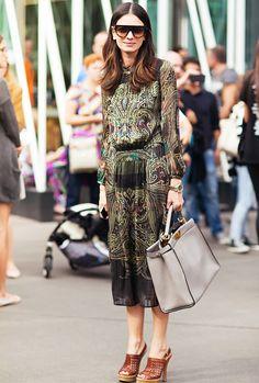Leila Yavari Street Style Paisley Dress