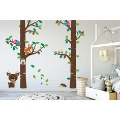 Awesome and big sized nursery wall stickers trees from quality removable sticker! This design will make your room awesome! Trees For Kids, Classroom Walls, Nursery Wall Stickers, Kids Room Art, Playroom, Wall Decor, Make It Yourself, Design, Home Decor
