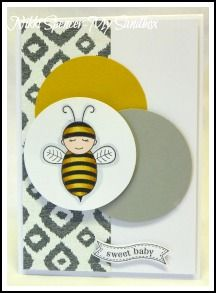 Nikki Spencer-My Sandbox: Little Baby Bumblebee! Stampin' Up!