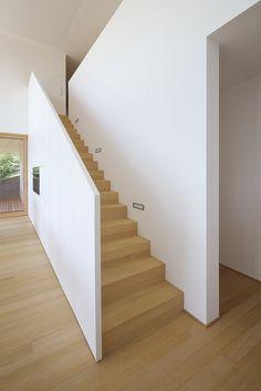 Haus DB Klaus — ARCHITEKTUR Jürgen Hagspiel Concrete Wood, House On A Hill, Villa, Stairs, Modern, Architecture, House Ideas, Design, Home Decor