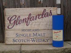 """Glenfarclas heute mal in """"klein"""" (60 x 40 cm). Auf Altholz von Hand gemalt."""