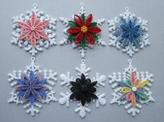 Quilled Weihnachtsschmuck Schneeflocke mit von BarbarasBeautys