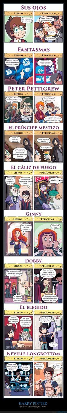 1012749 - Las diferencias entre el Harry Potter de los libros y el de las películas Harry Potter Gif, Harry Potter Books, Harry Potter Universal, Harry Potter World, Movie Characters, Fantastic Beasts, Hogwarts, Geek Stuff, Comics