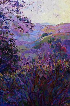 "Saatchi Art Artist Erin Hanson; Painting, ""Hills of Wine - SOLD"" #art"