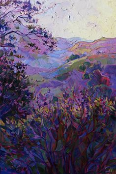 "Artist: Erin Hanson; Oil 2014 Painting ""Hills of Wine - SOLD"""