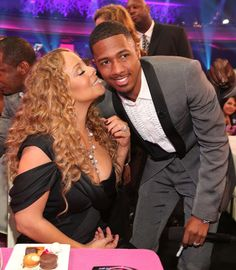 The latest celebrity split rumor from the Hollywood gossip mill claims Mariah Carey and Nick Cannon are headed for a breakup. The New York Post's Pag. Nick And Mariah, Mariah Carey Nick Cannon, Mariah Carey Photos, Her Music, Dance Music, Divas, Bryan Tanaka, Hollywood Gossip, Best Dance