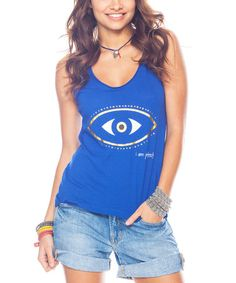 de460e3437ba27 Evil Eye T-Shirt owner. Follow. Another great find on  zulily! Hydrangea   Protect  Tank by Peace Love World