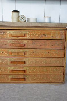 shop cabinet, embroidery cottons