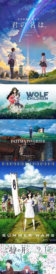 Top 5 heart warming anime movies recommendation that could change your life >>>Ahhhh! I've seen wolf children and it was so good>>> I saw Your name. and Patema inverted they were great!! I really recommend them