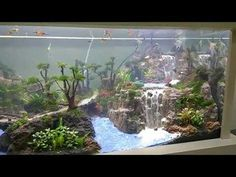 how to make a waterfall sand in the aquarium water gardens ponds
