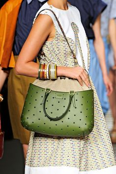 green FENDI bag - summer style