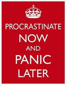 Brownlow, S., & Reasinger, R. D. (2000). Putting off until tomorrow what is better done today: Academic procrastination as a function of motivation toward college work. Journal Of Social Behavior & Personality, 15(5), 15-34.