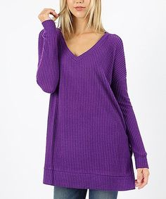 10a0b21146e Another great find on  zulily! Purple Thermal V-Neck Tunic - Plus