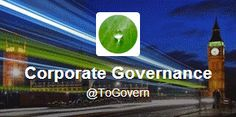 Corporate Governance (ToGovern) on Twitter