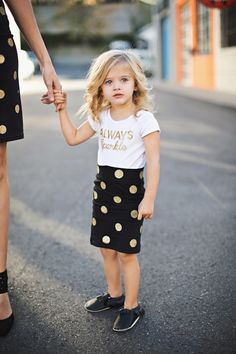 Toddler Pencil Skirt and adorable T.