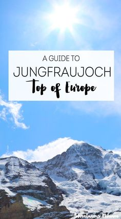 Jungfraujoch should be high on any Switzerland bucket list Why For starters its the highest train station in Europe 3454 meters Second of all there are some spectacular v. European Vacation, European Travel, The Places Youll Go, Places To Visit, Places To Travel, Travel Destinations, Grindelwald, Week End En Amoureux, Scenic Train Rides