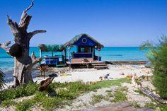 Beach bar on Cat Island in the Bahamas.