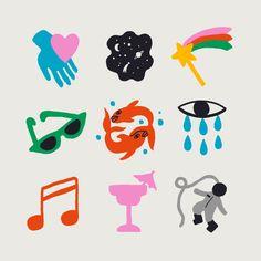 Pisces Emoji Art Print by Aley Hanson - X-Small Tatto Mini, Graphic Design Illustration, Illustration Art, Handpoke Tattoo, Doodle Tattoo, Bubble Art, Hippie Art, Sticker Design, Art Inspo