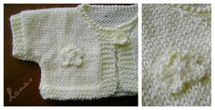 Here is the pattern for the Baby Bolero in English: BABY SHORT-SLEEVED TORERO (9 months) [Designed by: Ana Beatriz Contreras, ...