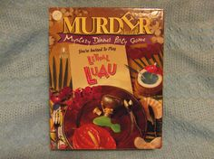 1996-MYSTERY DINNER PARTY GAME-LETHAL LUAU-MURDER ALA CARTE-COMPLETE-NEVER USED #BEPUZZLED