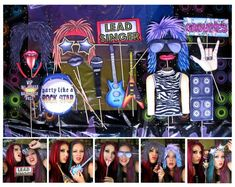 rock star photo booth props   Rock Star photo booth props perfect for your birthday party theme or ...