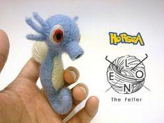 Horsea Needle felt Pokemon by LeonTheFelter on Etsy