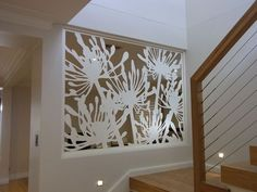 agapanthus-lasercut-screen - great idea if your front door looks up your stairs: