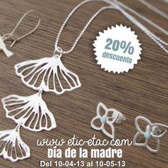 Hasta el 20 de Mayo, todas nuestras #joyas inspiradas en la naturaleza tienen un 20% de #descuento #oferta #diadelamadre