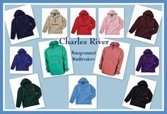 Monogrammed Packable Windbreaker - Charles River Personalized Jacket, College, Graduation, Greek Wear, Teens, Sorority, Fraternity by DesignsbyDaffy on Etsy