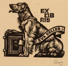 Art-exlibris.net Ex Libris, Linoprint, Scratchboard, Wood Engraving, Print Ideas, Dog Art, Watercolors, Ephemera, Printmaking