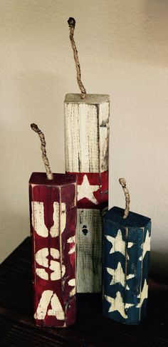 Wood Forth of July, 4th of July Decorations
